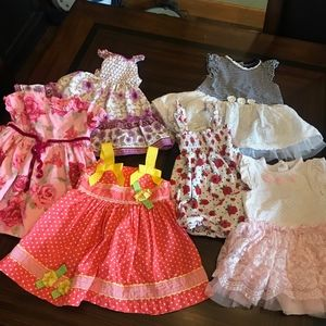 6 GIRLS DRESSES BABY BERI, BABY LULU, BLUEBERI